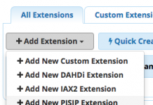 extension freepbx